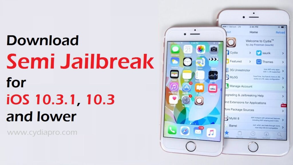 Semi Jailbreak iOS 10.3.1