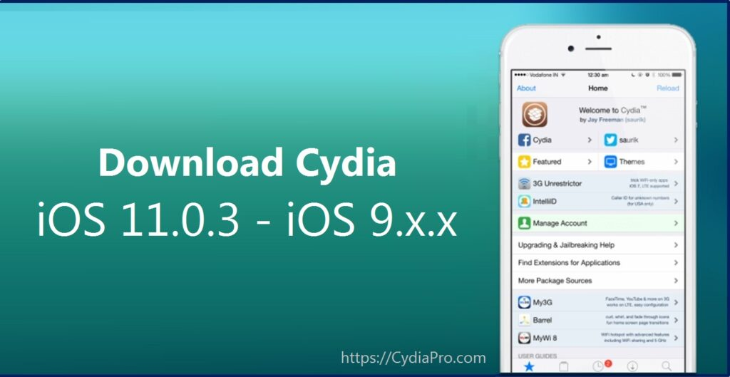 Cydia iOS 11.0.3