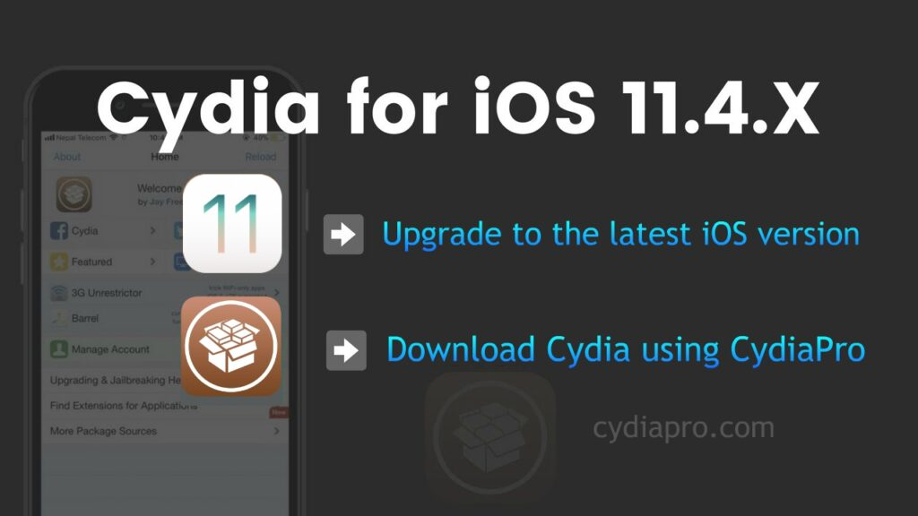 Cydia Download iOS 11.4.1