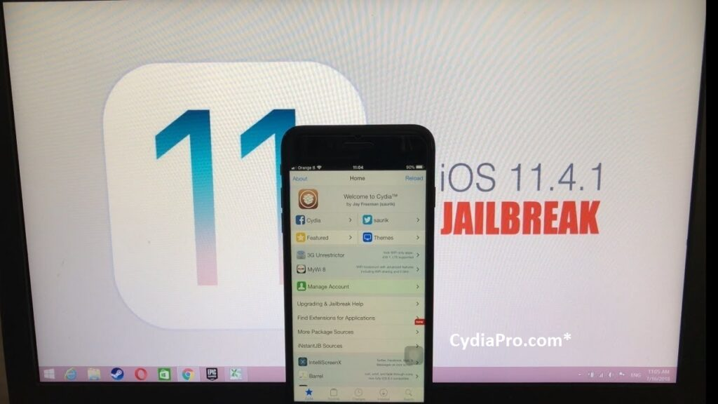 Cydia on iOS 11.4.1