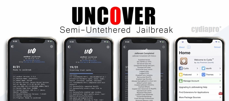 Is uncover jailbreak supports for download Cydia iOS 12.4.1?